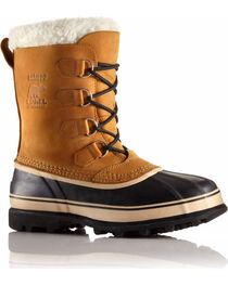 Sorel Men's Tan Caribou Waterproof Boots - Round Toe , , hi-res