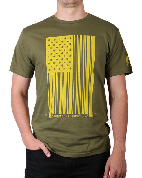 Brothers & Arms Men's Barcode T-Shirt, Green, hi-res