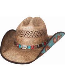 Bullhide Women's Too Good Straw Hat, , hi-res