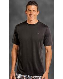 Rock and Roll Cowboy Men's Black Crew Neck T-Shirt , , hi-res