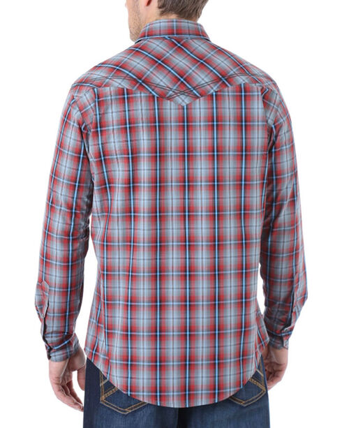 Wrangler 20X Men's Plaid Long Sleeve Shirt, Charcoal, hi-res