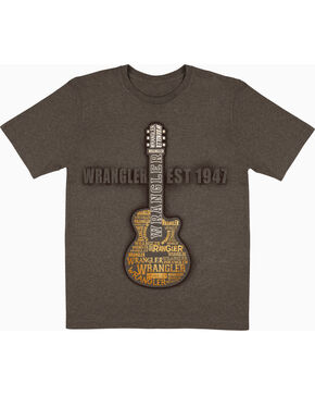 Wrangler Boys' Guitar T-shirt , Brown, hi-res