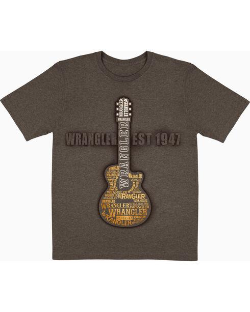 Wrangler Boys' Guitar T-shirt , Brown, hi-res