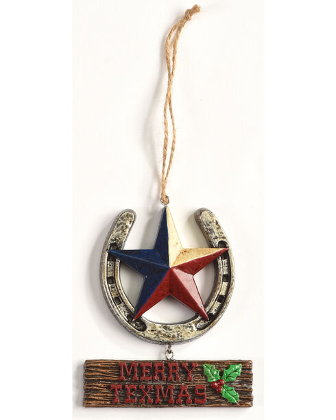 BB Ranch Merry Texmas Ornament    , No Color, hi-res