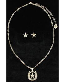 Lightning Ridge Embellished Horsehoe & Star Charm Necklace Set, , hi-res
