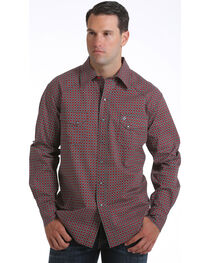 Cinch Men's Garth Brooks Geometric Long Sleeve Shirt, , hi-res