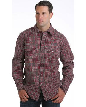 Cinch Men's Garth Brooks Geometric Long Sleeve Shirt, Black, hi-res