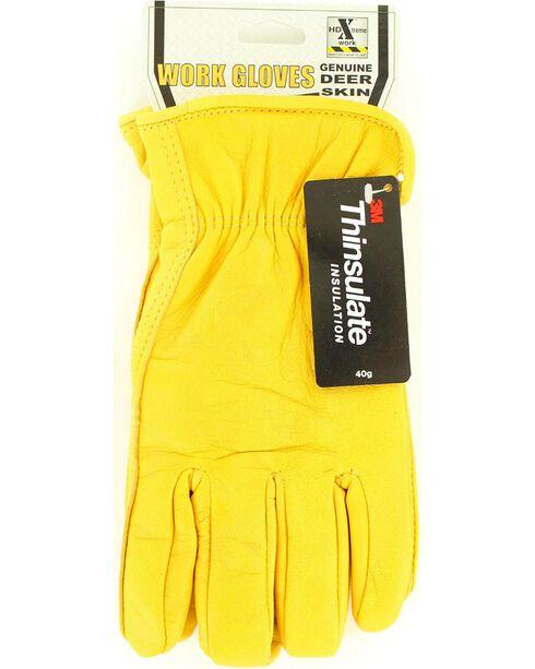 HD Xtreme Fleece Lined Deerskin Gloves, Tan, hi-res
