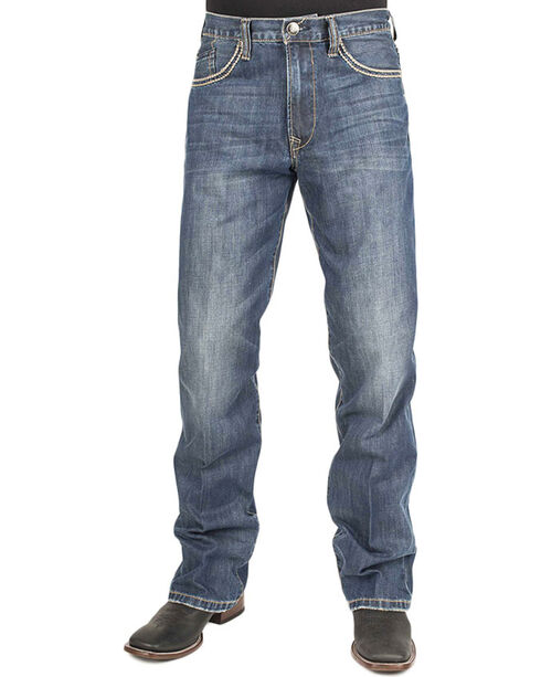 Stetson Men's Modern Fit Boot Cut Jeans, Blue, hi-res