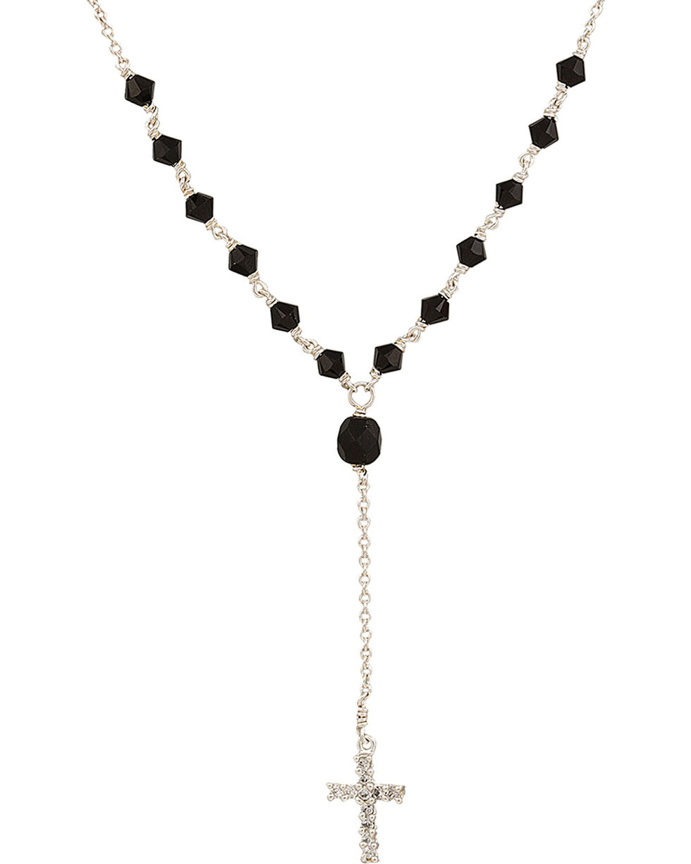 Montana Silversmiths Drops of Faith Necklace, Black, hi-res
