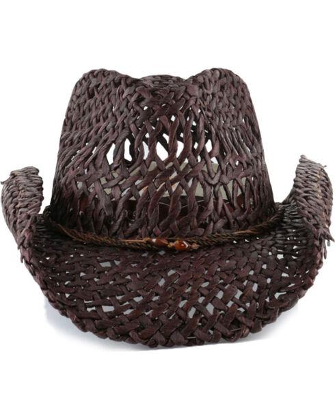 Shyanne®  Women's Ford Loose Weave Straw Hat, Dark Brown, hi-res