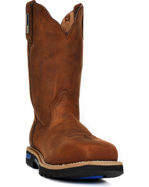 Cinch Brown H2O Waterproof Work Boots - Safety Toe, Brown, hi-res