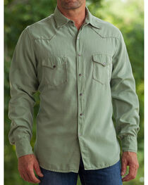 Ryan Michael Men's Fern Whip Stitch Silk Twill Shirt , , hi-res