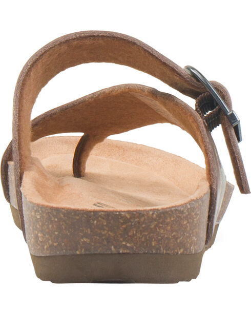 Eastland Women's Shauna Adjustable Thong Sandal , Natural, hi-res