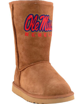 Gameday Boots Women's University of Mississippi Lambskin Boots, Tan, hi-res