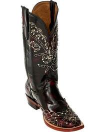 Ferrini Black Cherry Wild Diva Cowgirl Boots - Square Toe, , hi-res