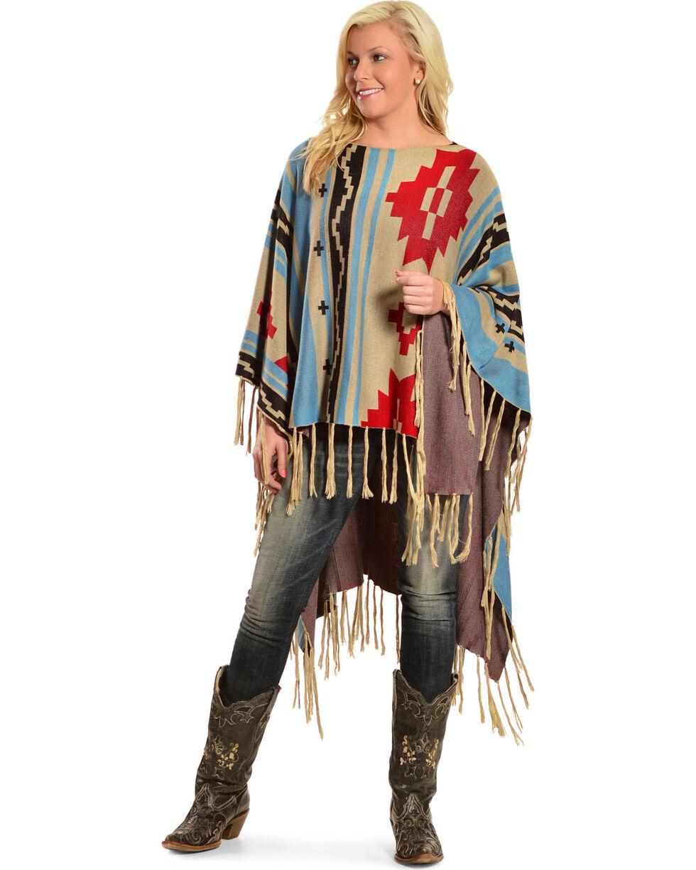 R Cinco Ranch Women's Sunterra Poncho, Multi, hi-res