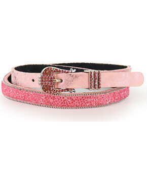 Shyanne® Girls' Glitter and Rhinestone Belt , Pink, hi-res