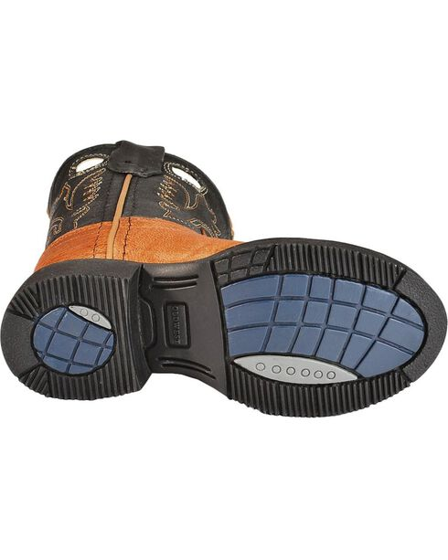 Jama Toddler's Comfort Wear Western Boots, Tan, hi-res