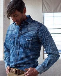 Ryan Michael Men's Indigo Star Print Shirt, , hi-res