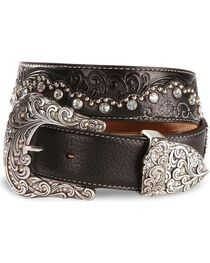 Tony Lama Women's Kaitlyn Crystal Western Belt, , hi-res