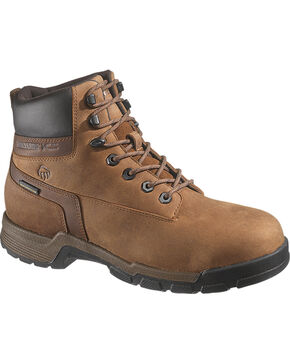 Wolverine Men's Gear Waterproof Composite Toe Work Boots, Brown, hi-res