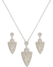 Montana Silversmiths Keen Pursuit Arrowhead Jewelry Set, , hi-res