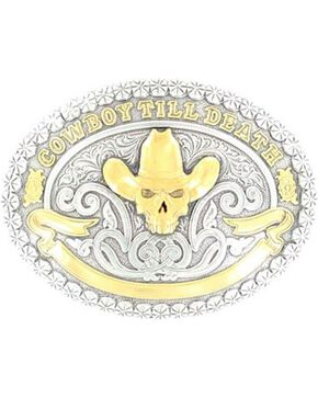 Cowboy Till Death Buckle, Silver, hi-res