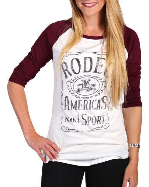 Signorelli Women's Rodeo Baseball Tee, Cream, hi-res