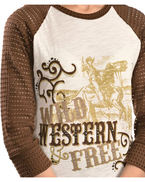 Ariat Salina Screen Print Top, White, hi-res