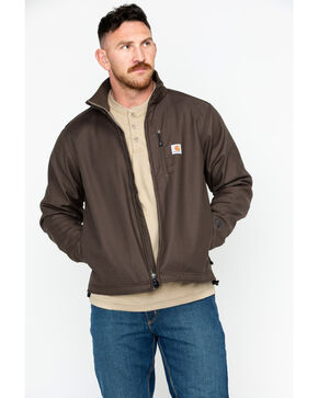 Carhartt Men's Pineville Softshell Jacket, Dark Brown, hi-res