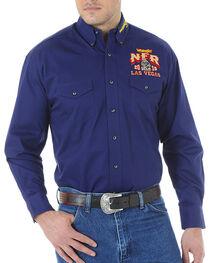 Wrangler Men's NFR Embroidered Long Sleeve Shirt, , hi-res