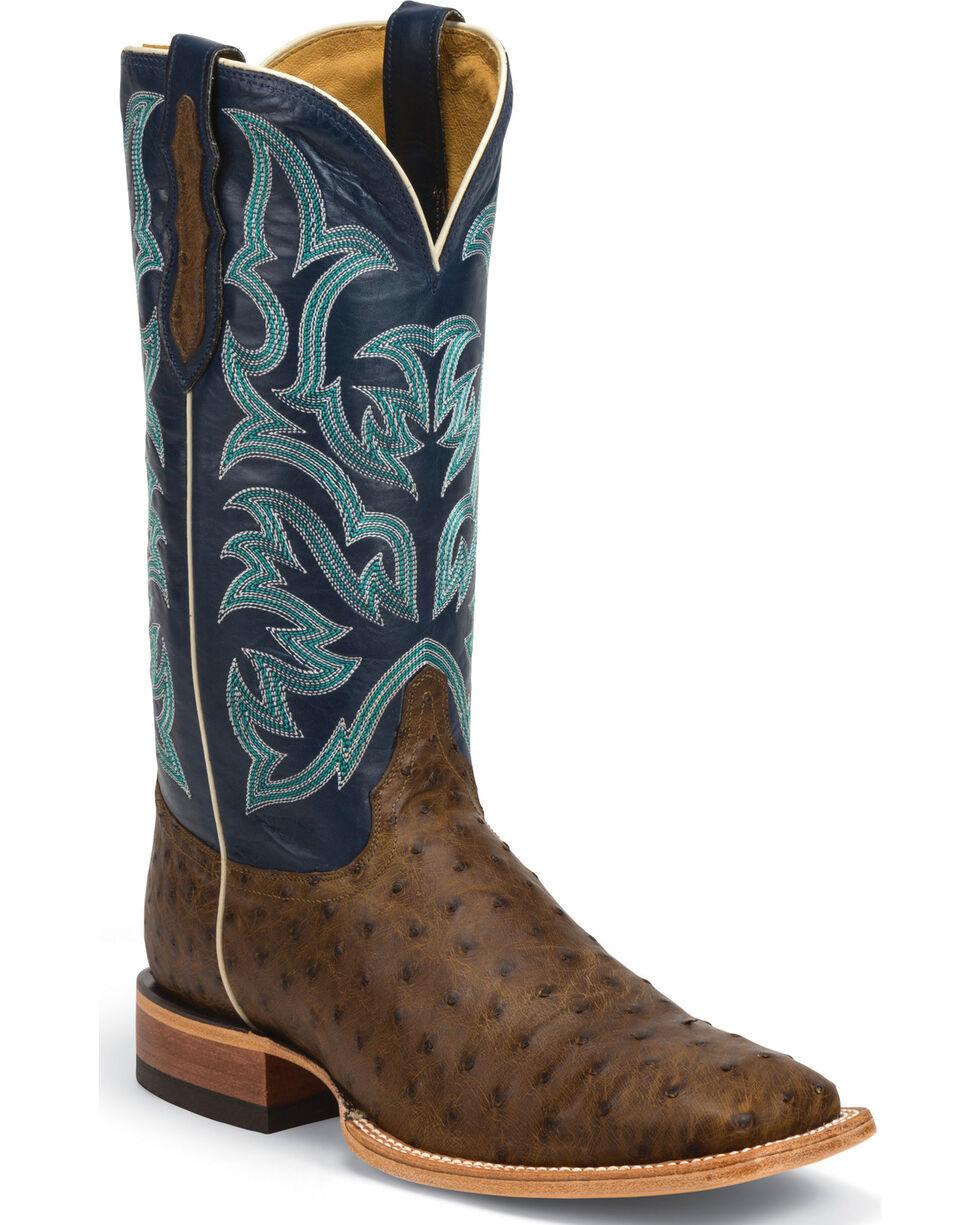 Justin Men's Pascoe Ostrich Exotic Boots, Tan, hi-res