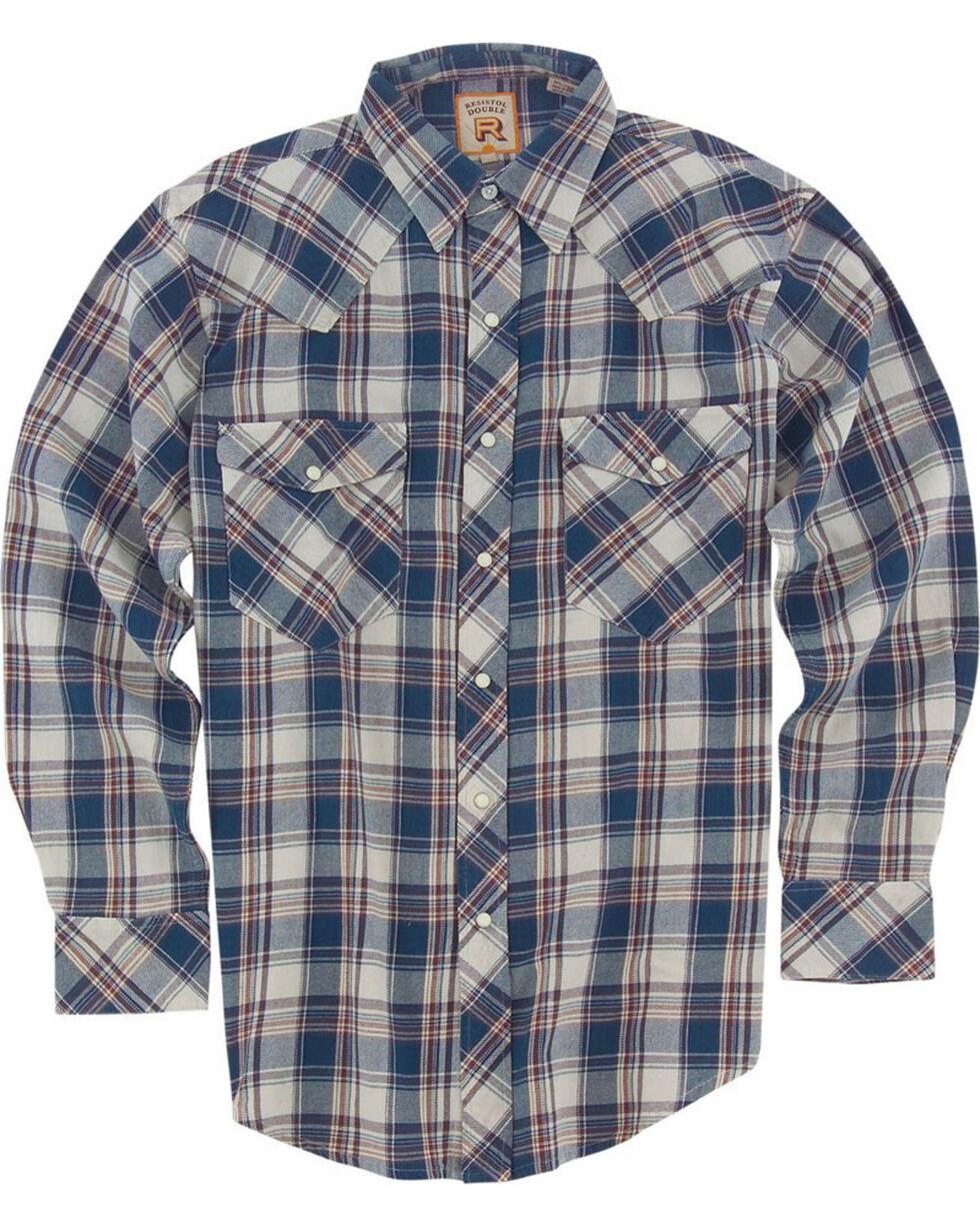 Resistol Men's Blue Fargo Plaid Long Sleeve Shirt , Blue, hi-res