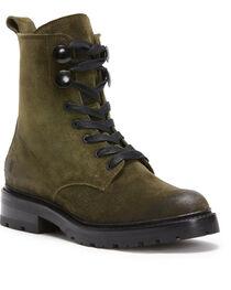 Frye Women's Dark Green Julie Hook Combat Boots - Round Toe, , hi-res