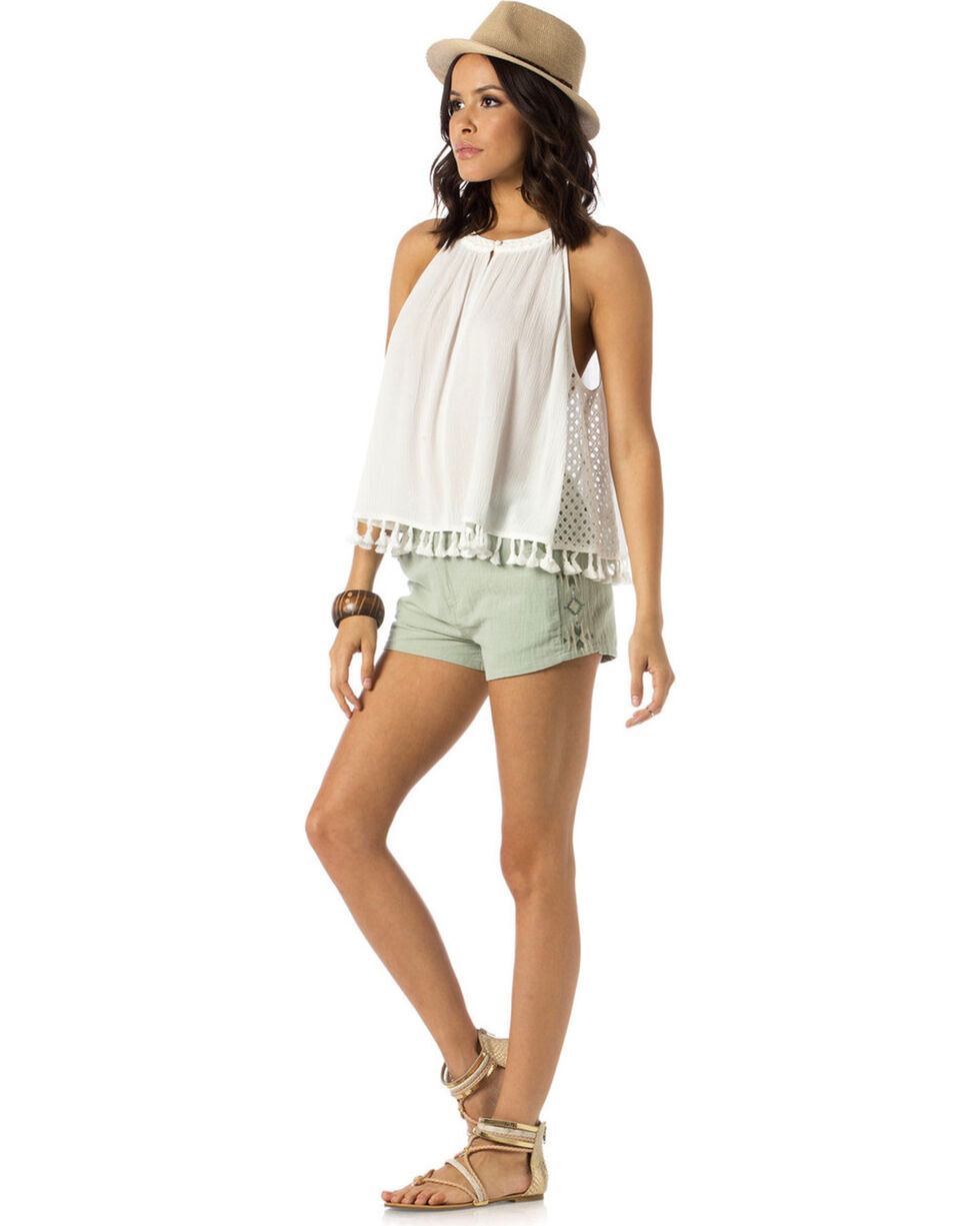 Miss Me Women's Sun Kissed Tank, Off White, hi-res