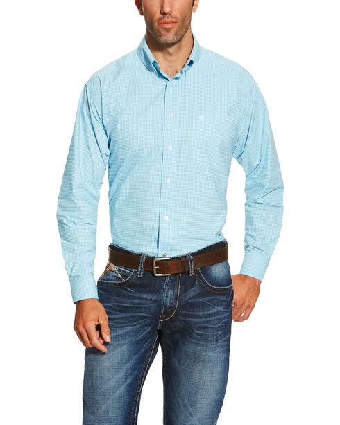 Ariat Men's Solid Long Sleeve Shirt, Light Blue, hi-res