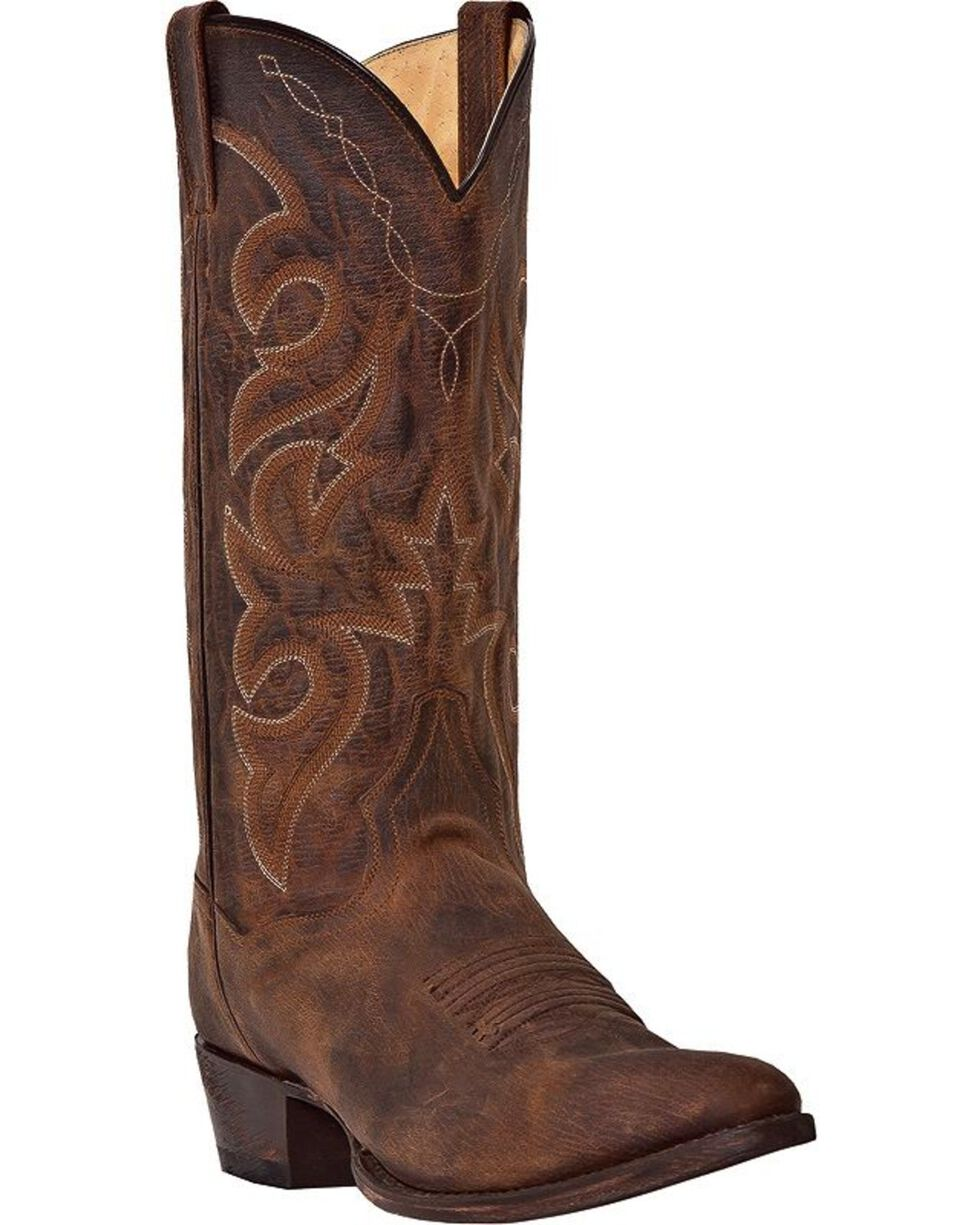 Dan Post Men's Renegade Distressed Western Boots, Bay Apache, hi-res