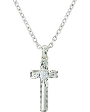 Sterling Lane Women's Simplicity's Cross Necklace , Silver, hi-res