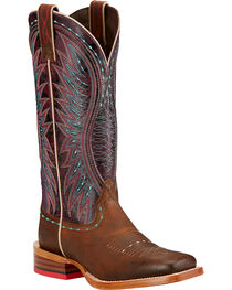 Ariat Women's Vaquera Square Toe Western Boots, , hi-res