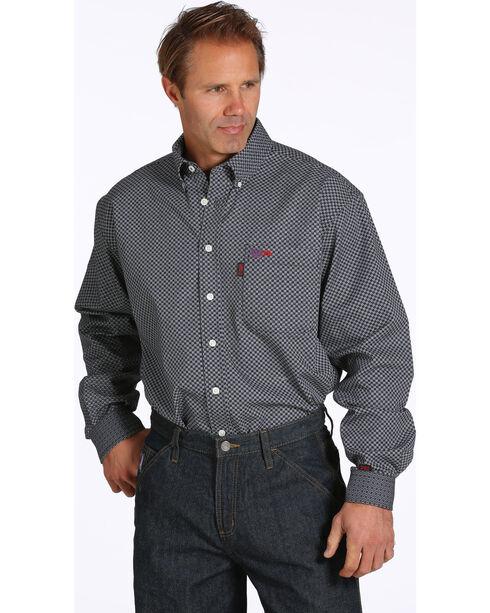 Cinch Men's Flame Resistant Button Down Long Sleeve Shirt, Black, hi-res