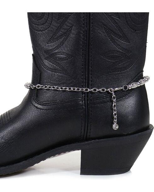 Shyanne Women's Longhorn Boot Bracelet , Silver, hi-res