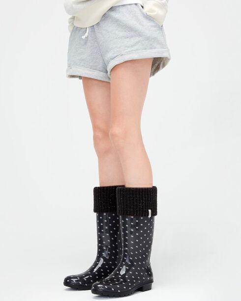 UGG® Women's Shaye Tail Rain Boot Socks, Black, hi-res