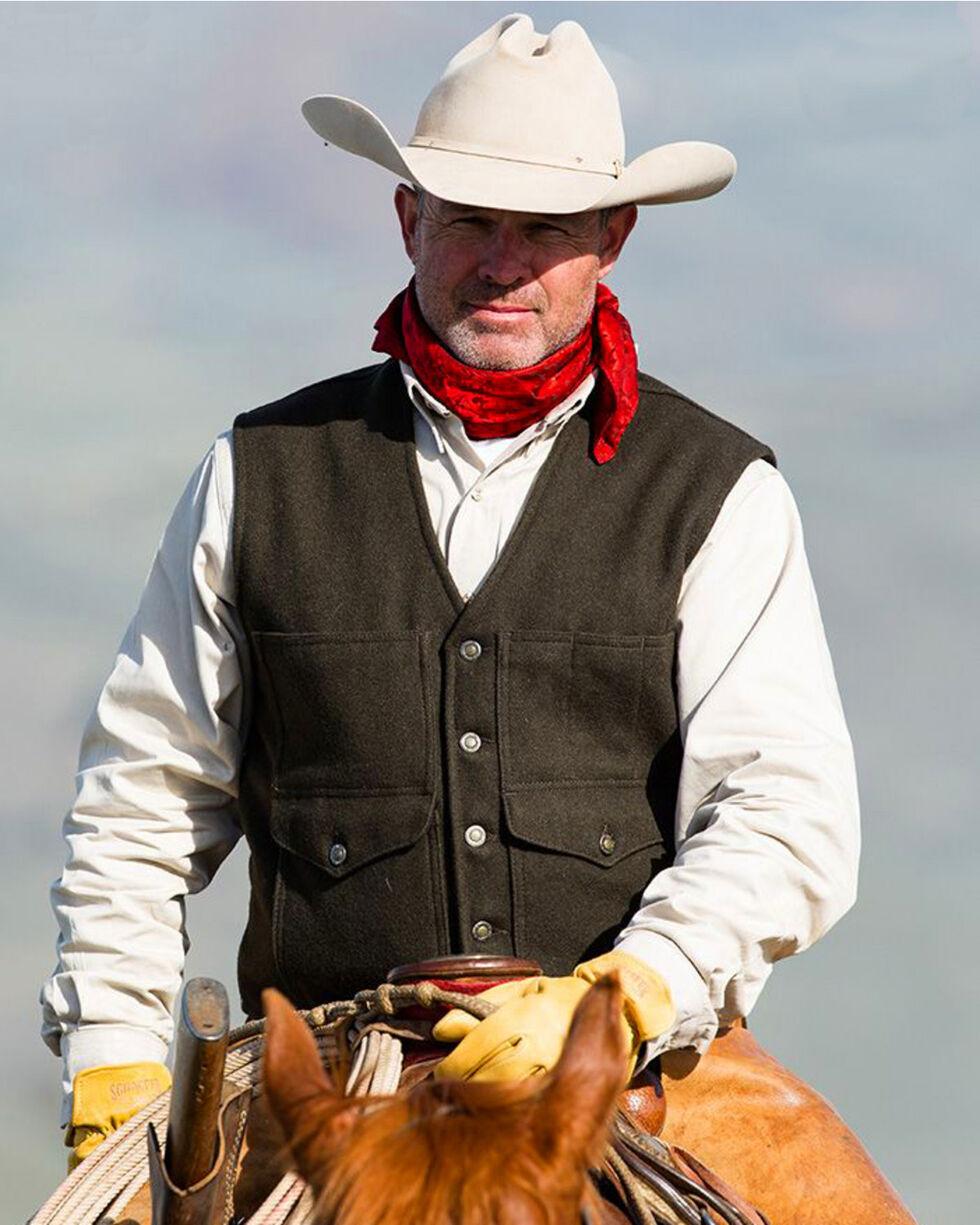Schaefer Outfitter Men's Black Scout Melton Wool Vest - 2XL, Black, hi-res