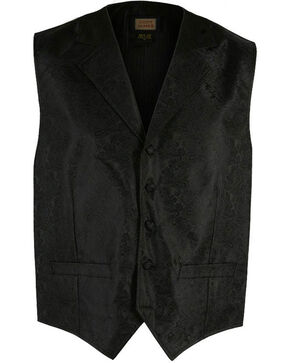 Cody James® Men's Paisley Print Western Vest, Black, hi-res