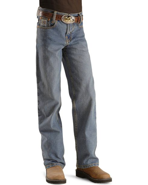 Cinch Boy's White Label Slim Relaxed Fit Jeans, Denim, hi-res
