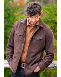 Ryan Michael Men's Brown Tumbled Suede Coat , , hi-res