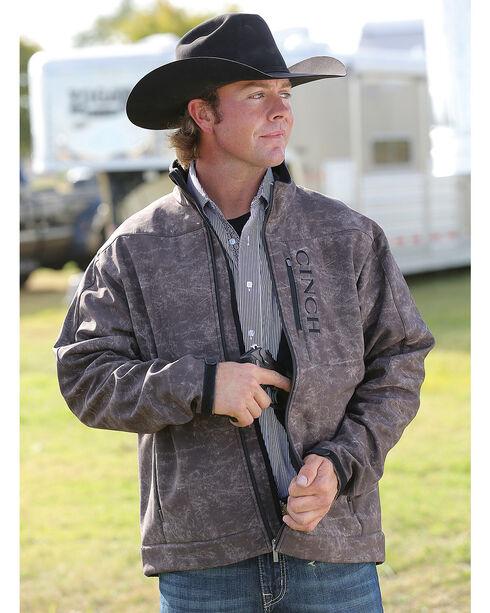 Cinch Men's Brown Print Bonded Concealed Carry Jacket , , hi-res