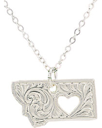 "Montana Silversmiths ""I Heart Montana"" Necklace, , hi-res"
