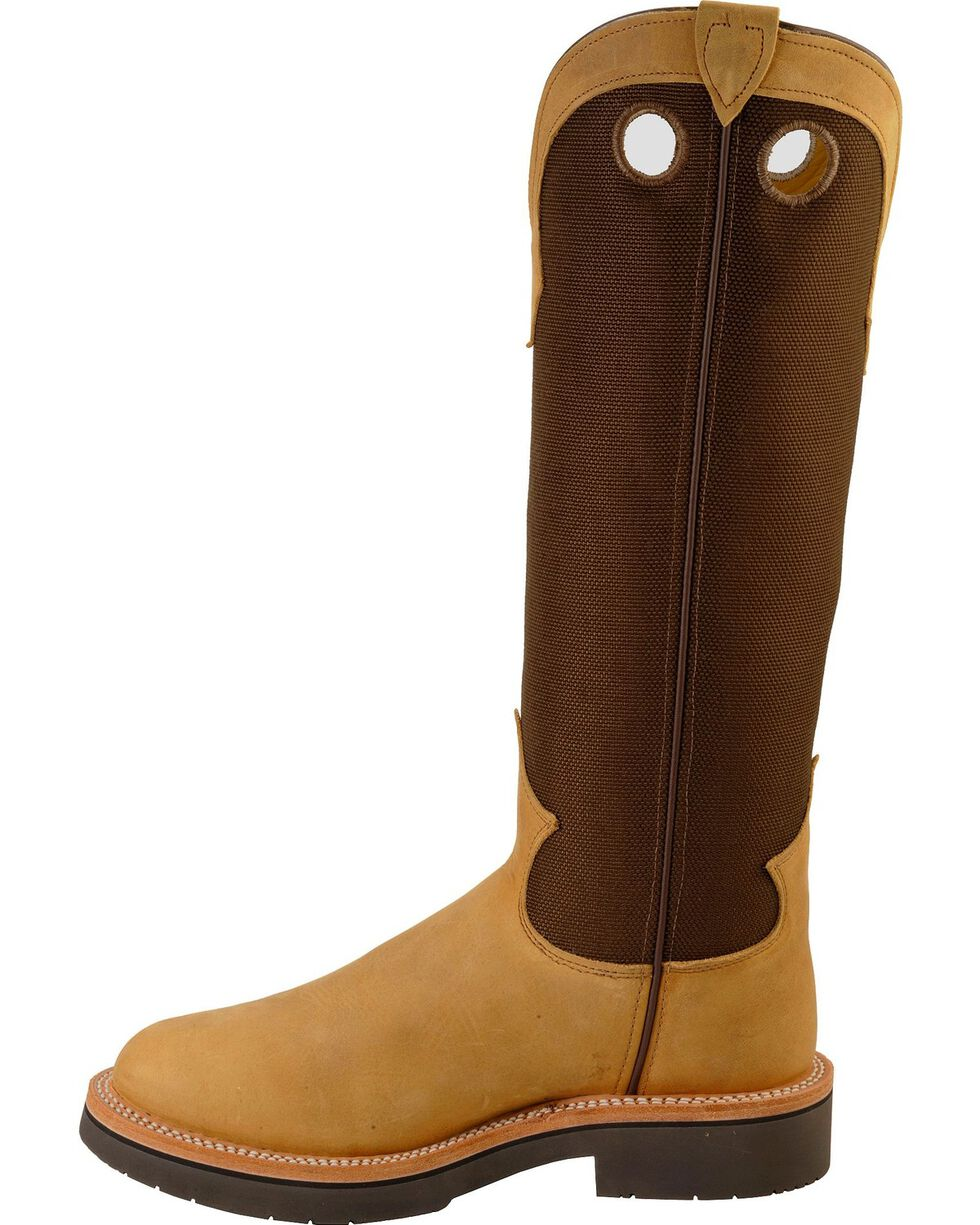 "Justin Men's 17"" Traction Snake Boots, Dune, hi-res"